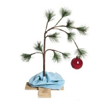 """Peanuts Charlie Brown Christmas Tree with Linus' Blanket 24"""" Tall NEW"""