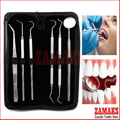 Dental Hygienist Examination Kit Dentist Probes Teeth Care Surgical Instruments