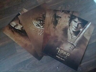 FINAL PRICE: The Hobbit set of 4 13x20 mini movie posters (IMAX EXCLUSIVE)