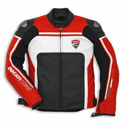 Men's Motorbike Leather jacket Ducati Replica jacket for Motorcycle ride