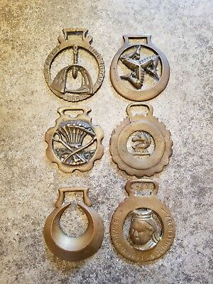 Vintage Brass Horse Medallion Collection