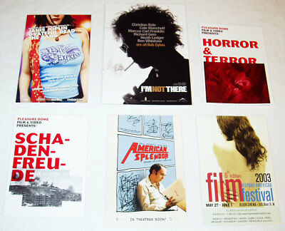 lot of 21 movie-related promo cards & flyers Canada - Joplin Dylan Grateful Dead