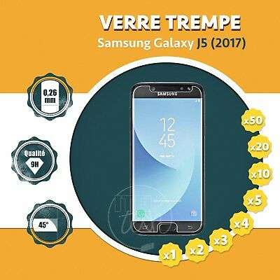 LOT X1 À X50: ViTRE FILM PROTECTION ÉCRAN EN VERRE TREMPÉ SAMSUNG GALAXY J5 2017