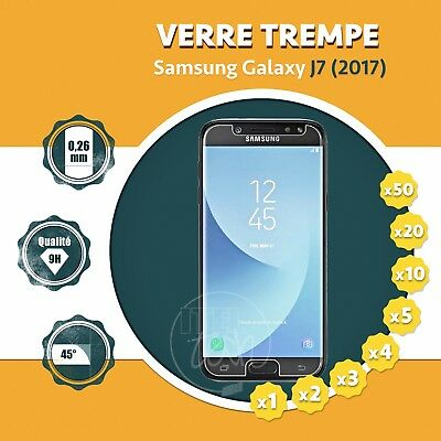 LOT X1 À X50: ViTRE FILM PROTECTION ÉCRAN EN VERRE TREMPÉ SAMSUNG GALAXY J7 2017