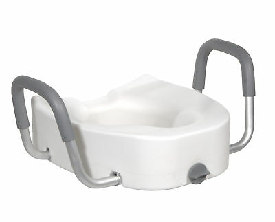 Drive Medical Raised Toilet Seat, White