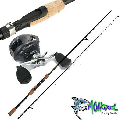 New Baitcaster Rod & Reel Combo reel great for Kayak fishing shore Fishing Boat