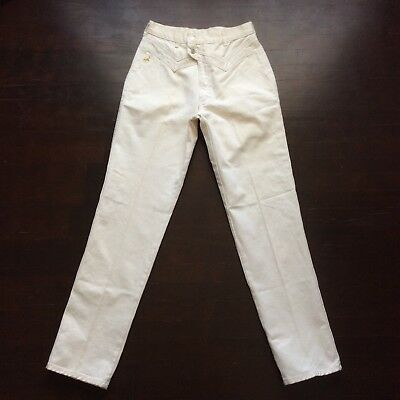 Vintage Jewell's Classic Bottoms White Denim Cowgirl Jeans Size 13 29x34 USA