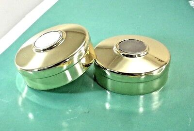 (2 pcs) Metal Round End Cap For 42mm Staircase Bannister Timber Handrail