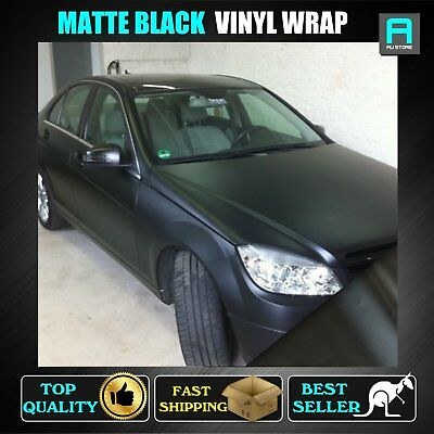 151cm x 60cm Matte Black Vinyl Film Wrap Paint Shield Car Ute Off Road Decals