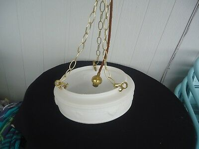 vintage white bowl light shade art deco ceiling light brass 3 chain 2 available