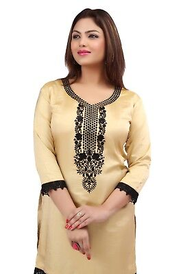 New Indian Designer Nylon tops blouse Kurtis-Tunics for Women with Embroidered