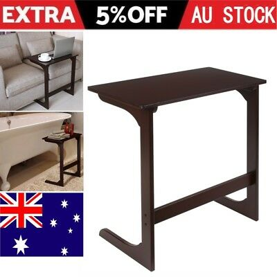 Side Table Tablet Laptop Desk Coffee Bed Room Sofa Lounges Wooden Book Stand AU