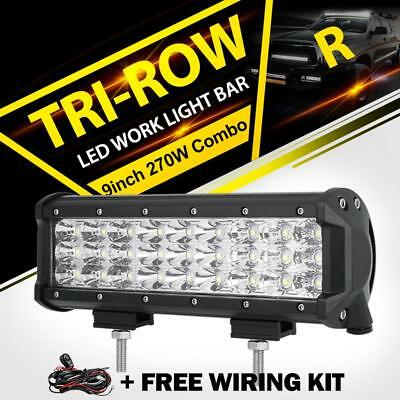 4wd Light Bars 9inch tri row led work light bar flood spot combo car truck offroad 9inch tri row led work light bar flood spot combo car truck offroad boat suv 4wd audiocablefo
