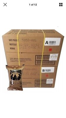 Military MRE 2018 US ULTIMATE Case A and B Bundle 24 Meal Ready to Eat M.R.E.