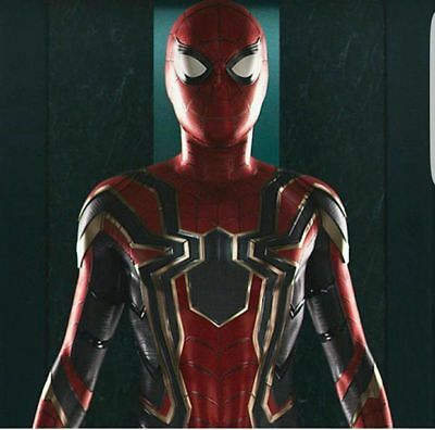 US SHIP Iron Spiderman Adult Spider-Man Homecoming Halloween Cosplay Costume
