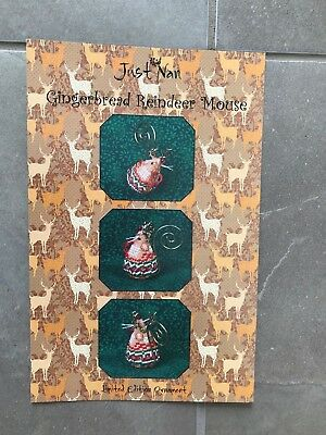 Just Nan pattern.Gingerbread Reindeer Mouse. Limited Edition ornament