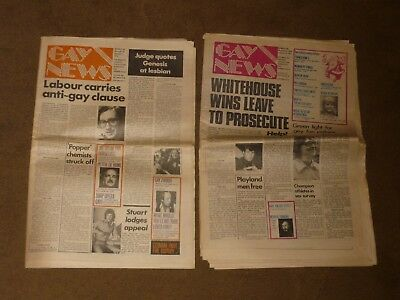 Gay News - Lot of 2 1976 Newspapers