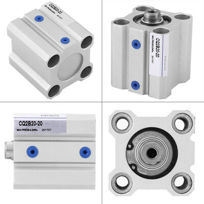 Compact Stainless Steel Dual Acting Stoke 20mm Air Pneumatic Cylinder Durable