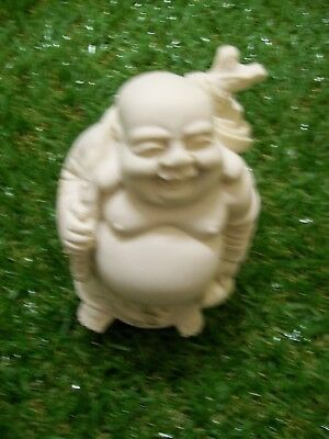 Buddha, laughing, 90mm Ivory colored 007v