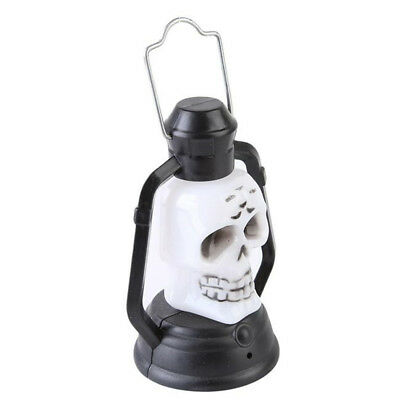 Portable Small Glowing In The Dark Party Decor Skull Hanging Light LED Lantern