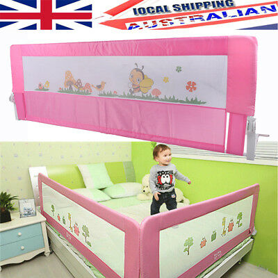 180cm 1.8M Toddler Bed Rail Safety Guard Kids Baby Infant Protector Large Pink