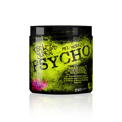 (14.56€/100g) Muscle Junkie Psycho Booster 240g - US Version | Hardcore Booster