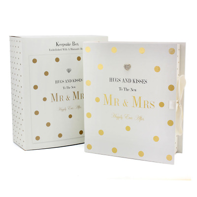 'Hugs and Kisses to the New Mr and Mrs' Keepsake Gift Box #LP71632