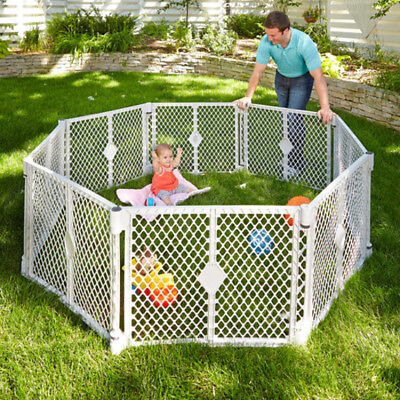 "Superyard ""Extension"" Play Yard Gate Baby Area Cage For Girl Boy Kit Pin Dog NEW"