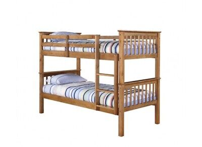 Leo Bunk Beds Off White / Antique Waxed Pine / Navy Blue