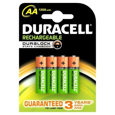 Duracell Ultra AA Rechargeable Batteries NiMH 1300mAh PreCharged HR6 Duralock