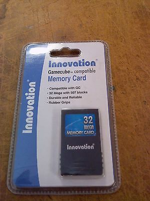 Gamecube Wii 32 MB 8 x 4 Meg Memory Card New Sealed US Seller WII