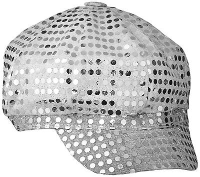 Adult Disco Sequin Hat ~ Silver