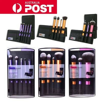 Real Techniques Make Up Brushes Cosmetic Starter Kit Core Collection 3 Set Types