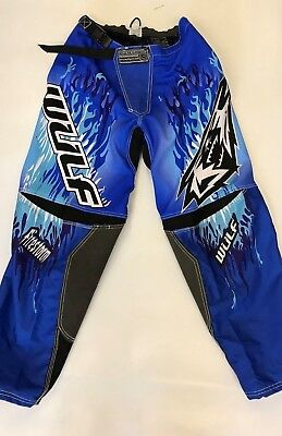 "Wulfsport 2018 Firestorm Blue Race Pants 30"" Motorbike Motocross MX Leisure"