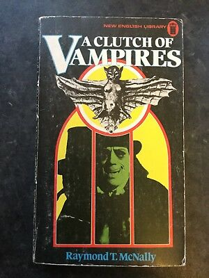 A Clutch Of Vampires Raymond T McNally 1974 Nel First Edition Vintage Horror