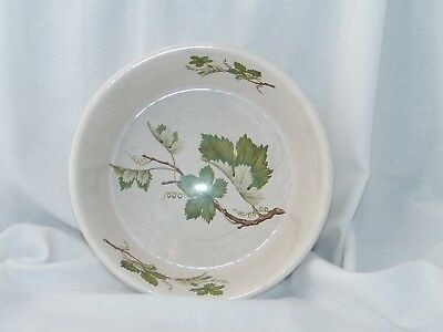 Unbranded Ceramic Salad Bowl With Green Leaves And Branches On Inside