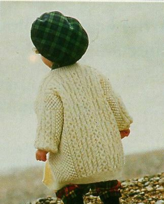 Knitting Pattern Baby/Child's DK Long Line Jacket 20 months - 7 years  (156)