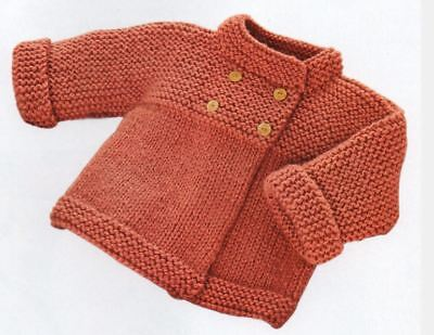 Knitting Pattern Baby Girl's Bulky/12 ply Jacket 3-24 months     (157)