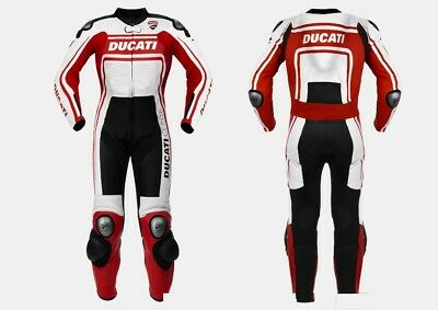Men's Leather Motorbike Replica Ducati Suit for Motorcycle ride