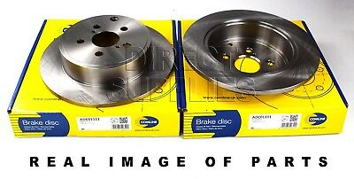 Fits Toyota Avensis T25 Genuine Comline 5 Stud Rear Solid Brake Disc /& Pad Kit