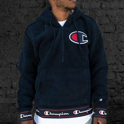 039ac6935331 Champion Sherpa Half Zip Pullover Hoodie Navy Size XL NEW 100% Authentic