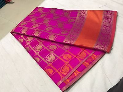 Indian Pakistani Designer Poly Cotton Fancy Saree Ethnic Party Wear New Sari
