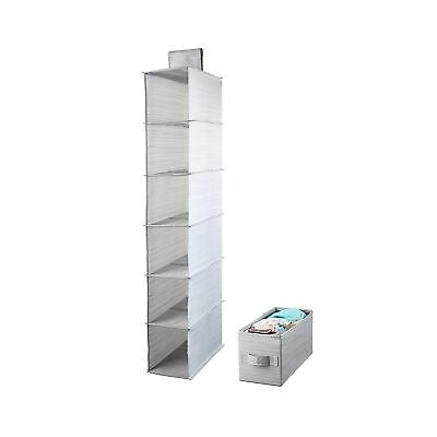 Meeu0027life Collapsible 6 Shelf Hanging Closet Organizer With 1Drawer Thick  Card.