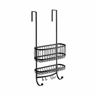 INTERDESIGN YORK LYRA - Bathroom Over-The-Door Shower Caddy - Matte ...