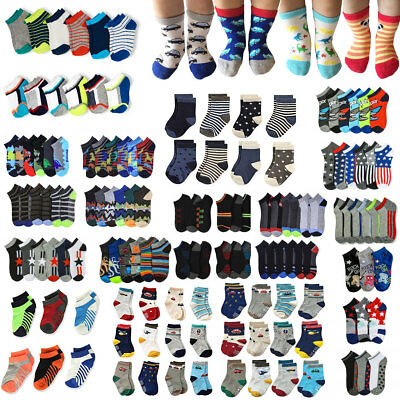 Newborn Infant Toddler Baby Boys Kid Ankle Socks Casual Crew Wholesale Lot 0-6