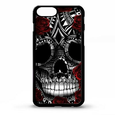 Sugar skull rose flower floral day of the dead tattoo pattern phone case cover