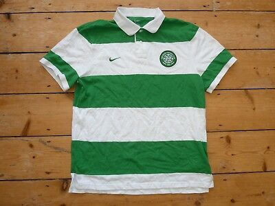 large Glasgow CELTIC FC football polo shirt  home Top Soccer Jersey