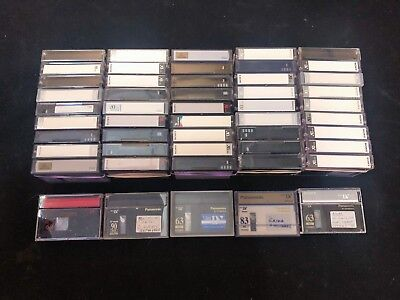 50 Used MiniDV Cassette Tapes Lot - Variety of Brands, Used Once