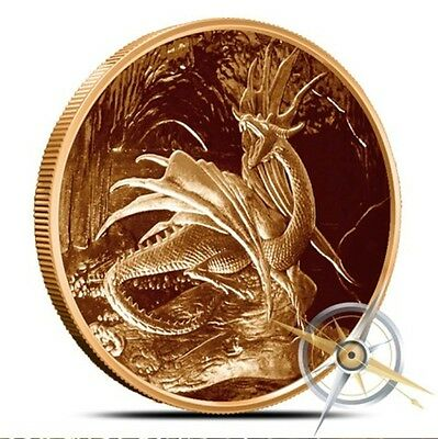 Nordic Creatures 1 oz Copper Round - Nidhoggr Dragon - In Stock FREE Shipping
