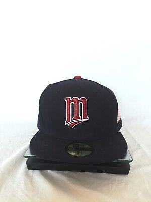 ea47adba16b New Era Minnesota Twins Navy Clubhouse Collection 59Fifty Fitted Hat- Mlb 7  3 4